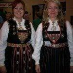 Ladies wearing bunads