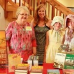 Candace signing books at Fort Abercrombie